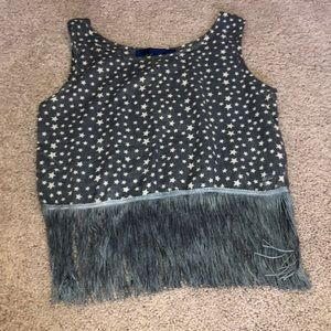 NWT Blue Rain Crop Top in Size Small